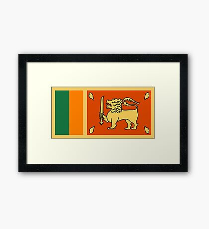 Sri Lanka, national id Framed Print