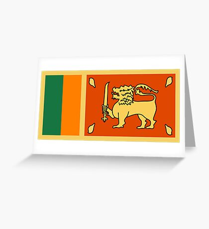 Sri Lanka, national id Greeting Card