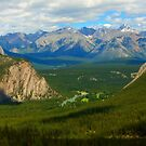 The Rocky Mountains on a sunny spring day by Josef Pittner