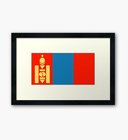 Mongolia, national id Framed Print
