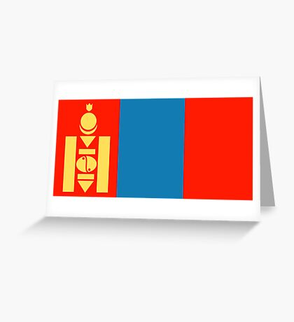 Mongolia, national id Greeting Card