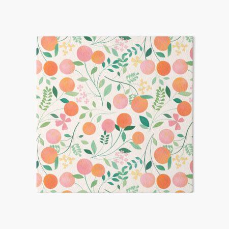 Vanilla Peaches Art Board Print