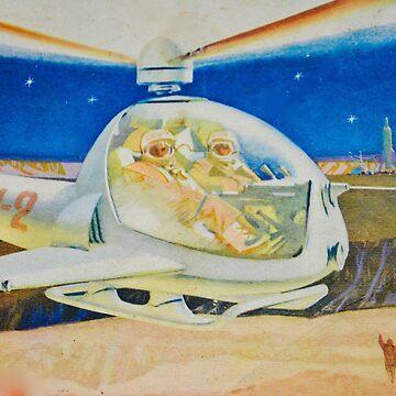 sci fi flight on mars by garethstamp