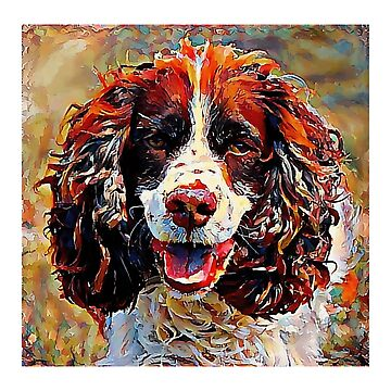 English Springer Spaniel - A Portrait in Oil by Chunga
