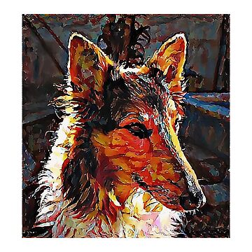 Rough Collie - A Portrait in Oil by Chunga