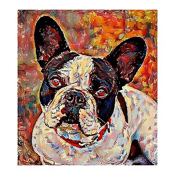 French Bulldog - A Portrait in Oil by Chunga