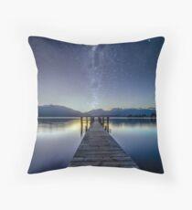 Lake Te Anau Milky Way Throw Pillow