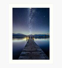 Lake Te Anau Milky Way Art Print