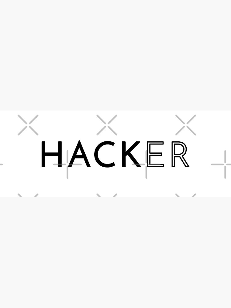 Hacker (Inverted) by developer-gifts