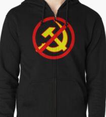 Anti-Communism Zipped Hoodie