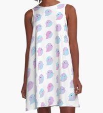 Kawaii Watercolour Ghosts (Unicorn) A-Line Dress