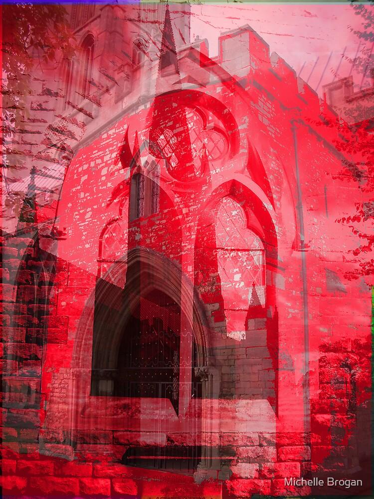 red church by Michelle Brogan
