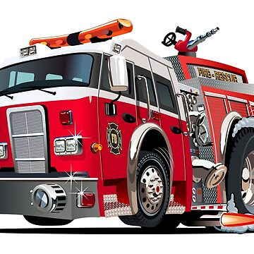 Cartoon firetruck by Mechanick