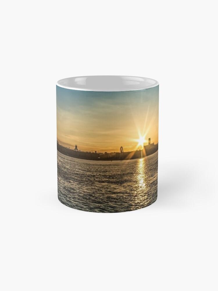 Alternate view of Liverpool sunrise Mugs
