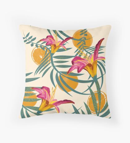 Plants Flowers and Your Orange Fruit Light Throw Pillow