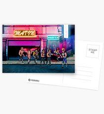 Double Dragon pixel art Postcards