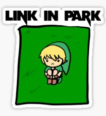 Link in park joke. Sticker