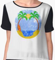 summer island Chiffon Top