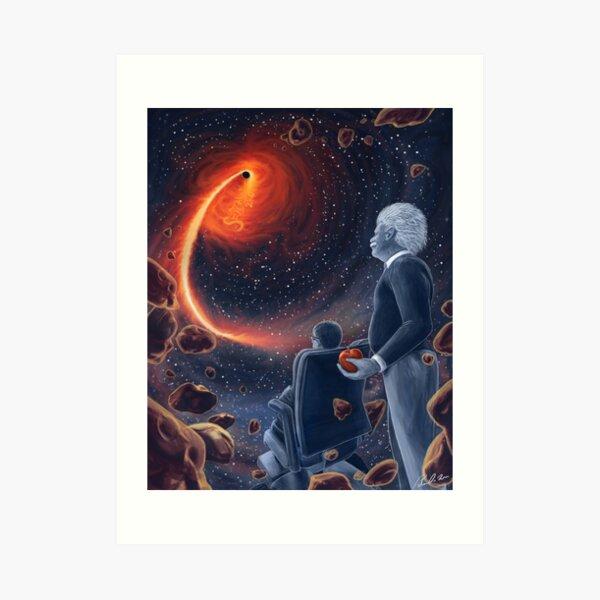 Ghosts in the Sky: Einstein and Hawking Art Print