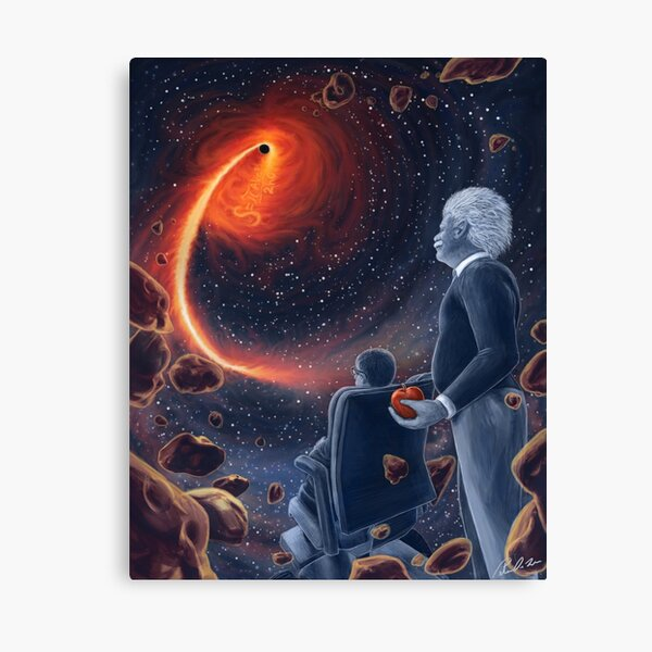 Ghosts in the Sky: Einstein and Hawking Canvas Print