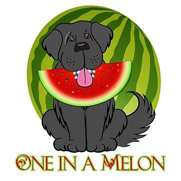 Watermelon Newfie by itsmechris