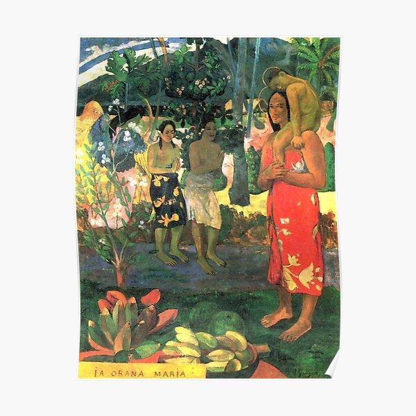 HD La Orana Maria (Hail Mary), by Paul Gauguin HIGH DEFINITION Poster