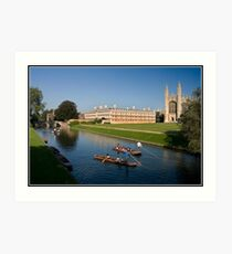 Punting in Cambridge Art Print