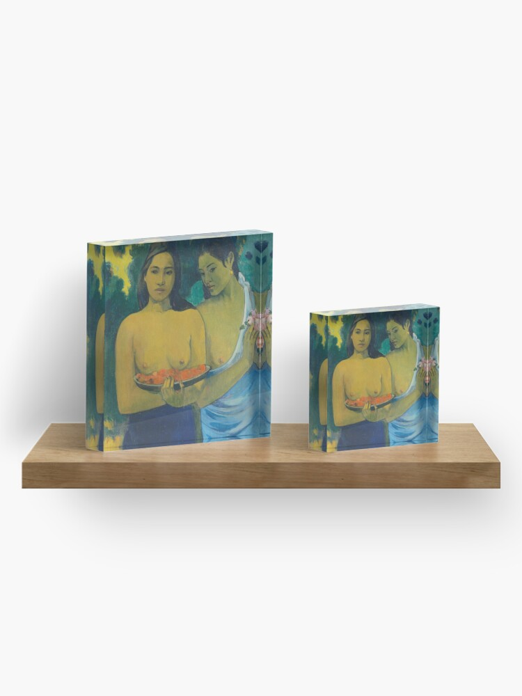 Alternate view of HD Two tahitian, by Paul Gauguin HIGH DEFINITION Acrylic Block