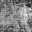 Omaha Nebraska City Map by Michael Tompsett