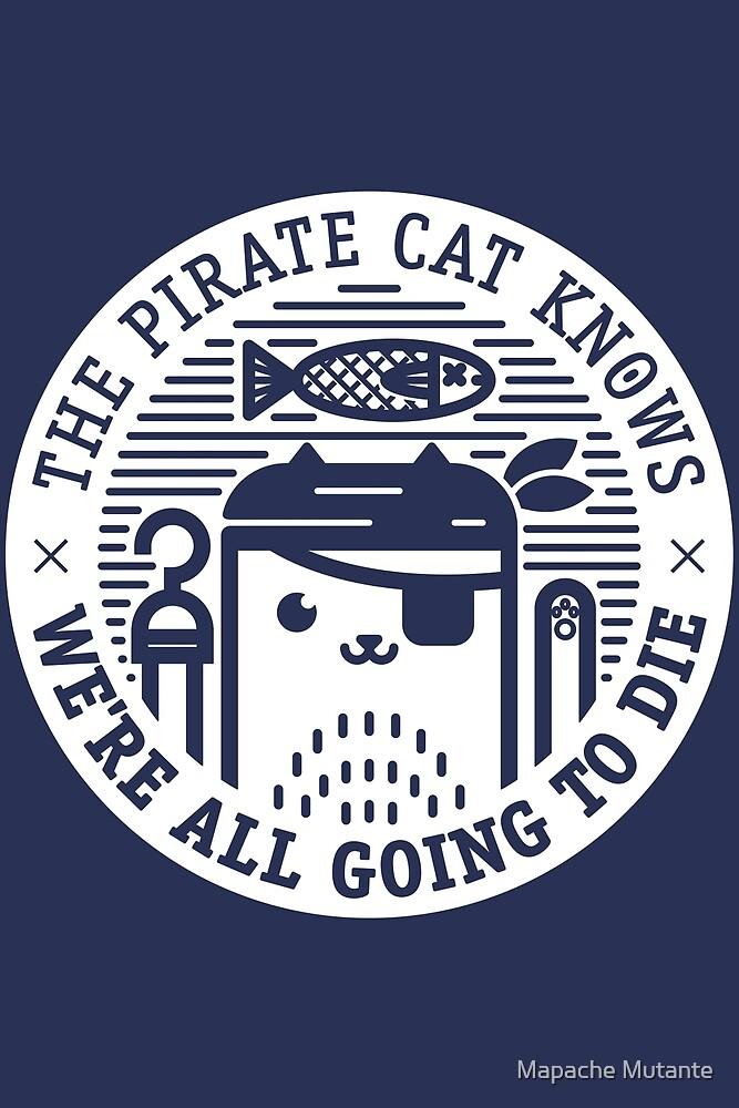 Pirate Cat by Calaveras y Gatitos