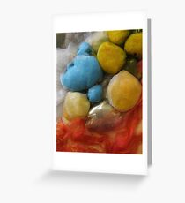 embroidered pebbles IIII Greeting Card