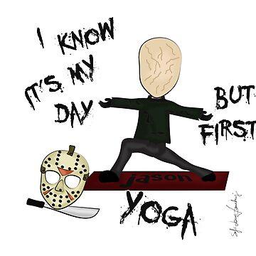 Friday 13th Yoga by MomOfCreatures