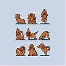 Cocker Spaniel  Yoga by Huebucket