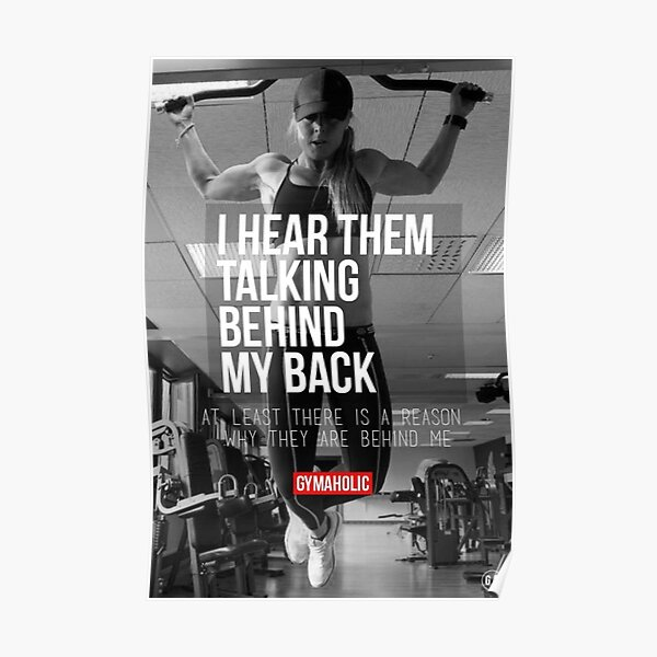 I Hear Them Talking Behind My Back Poster