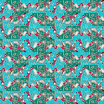 Colorful Hand Drawn Abstract Pattern by DFLCreative