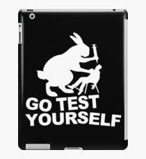 Go Test Yourself iPad Case/Skin