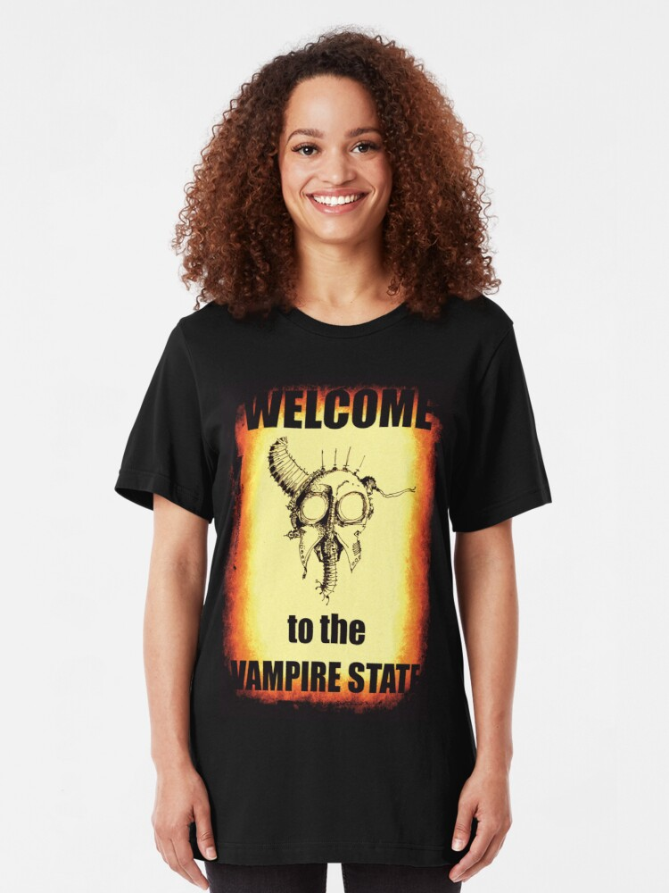 Alternate view of Welcome to the Vampire State Slim Fit T-Shirt