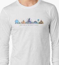 Meet me at my Happy Place Vector Orlando Theme Park Illustration Design Long Sleeve T-Shirt