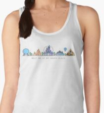Meet me at my Happy Place Vector Orlando Theme Park Illustration Design Women's Tank Top