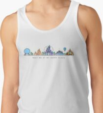 Meet me at my Happy Place Vector Orlando Theme Park Illustration Design Tank Top
