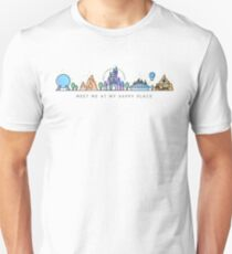 Meet me at my Happy Place Vector Orlando Theme Park Illustration Design Unisex T-Shirt