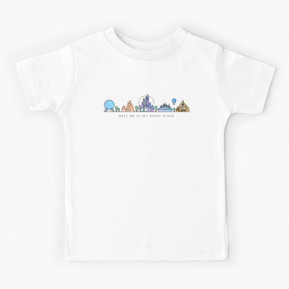 Meet me at my Happy Place Vector Orlando Theme Park Illustration Design Kids T-Shirt