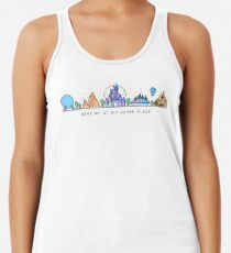 Meet me at my Happy Place Vector Orlando Theme Park Illustration Design Racerback Tank Top