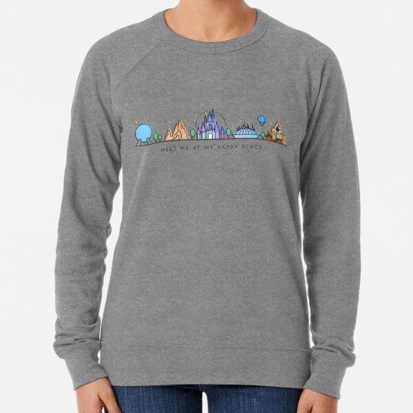 Meet me at my Happy Place Vector Orlando Theme Park Illustration Design Lightweight Sweatshirt