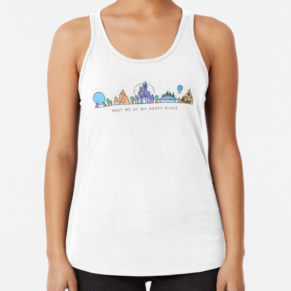 Hand-illustrated women/'s tank top one piece.
