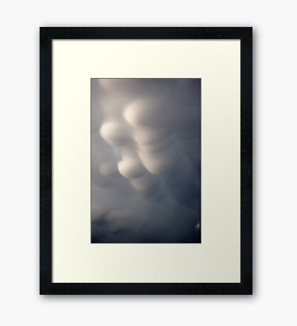 Mammatus clouds  Framed Print