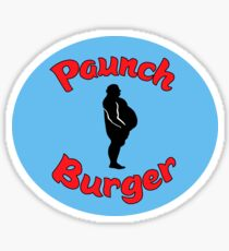 Paunch Burger Logo Parks and Recreation Sticker