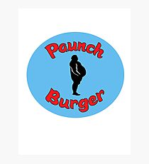 Paunch Burger Logo Parks and Recreation Photographic Print