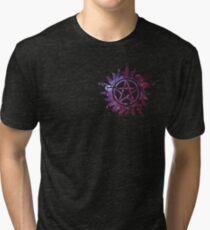 Supernatural Anti-Possession Galaxy Print Tri-blend T-Shirt