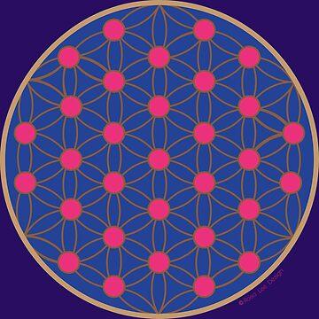 «Fleur de vie bleue et fushia» par RosaLeeDesign